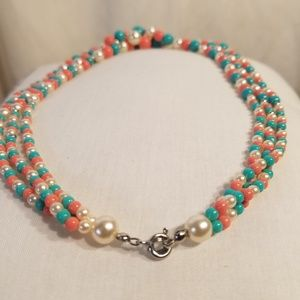 Fashion Jewelry Jewelry - FASHION THREE COLOR NECKLACE